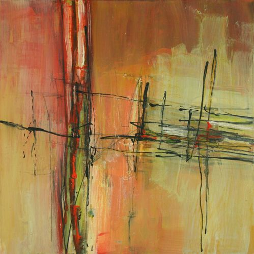 """Contemporary Painting - """"Crossing Lines"""" (Original Art from Janet Wayte)"""