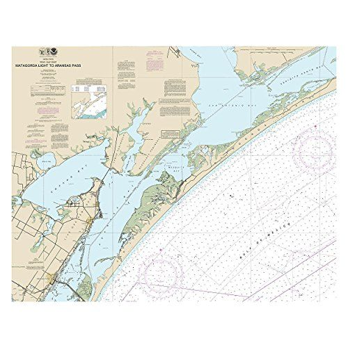 Matagorda Light to Aransas Pass, Texas Nautical Chart printed on sailcloth for home décor wall art print. Unique Textile Printing http://www.amazon.com/dp/B00W80NSNG/ref=cm_sw_r_pi_dp_1W8nwb0CCVNQY