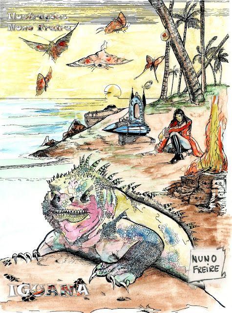 Ilustrações Nuno Freire: Iguana