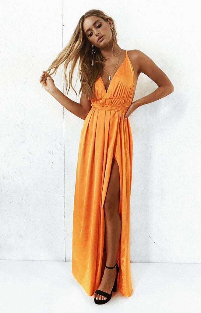 43e9d73658c Paloma Formal Dress Tangerine – Beginning Boutique