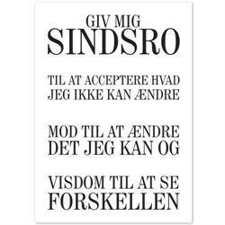 Plakat - Sindsrobønnen - sort/hvid
