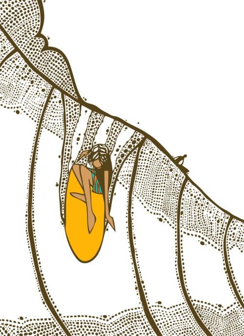 Looker, Andy Davis - surf art