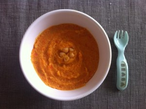 purée pour bébé 9 mois curry carottes pois chiches