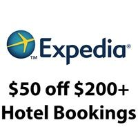Expedia is offering a $50 off qualifying Hotel Booking of $200 or more after coupon.