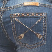 Natural Pathmaker Cowgirl Tuff Jeans