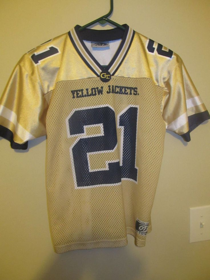Calvin Johnson - Georgia Tech Yellow Jackets Football jersey - Youth medium #OT #GeorgiaTech