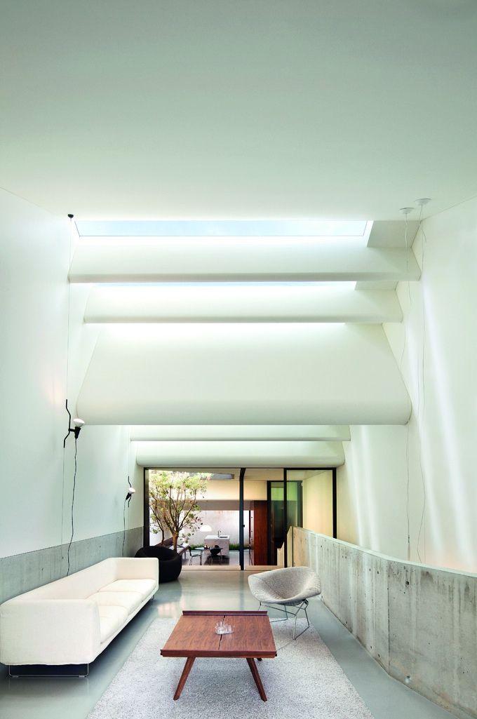Modern Living Room Skylights