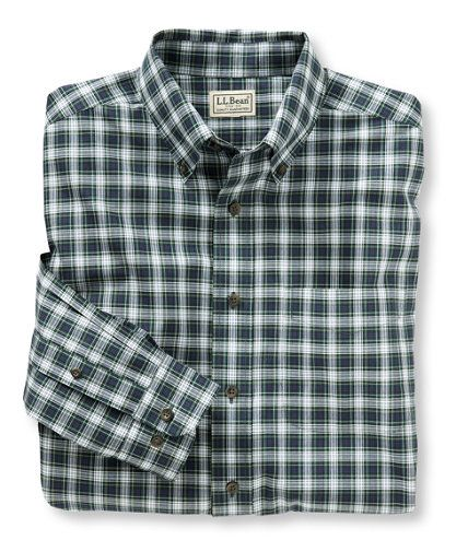Wrinkle resistant mini tartan shirt traditional fit for Ll bean wrinkle resistant shirts