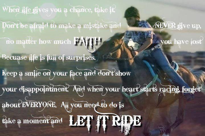 Barrel racing quote