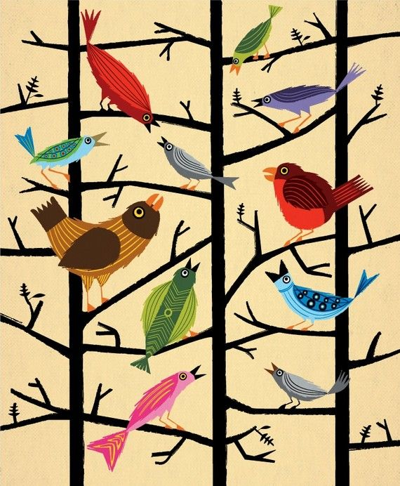 """""""For All the Birds,"""" by iotaillustration, Oxford, England"""