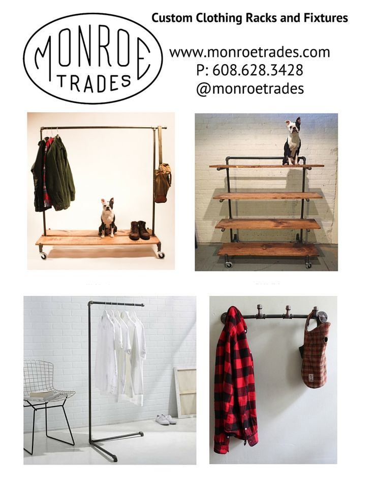 Industrial furniture fixtures for stores or homes.  From clothing racks to shelving.  No tools needed for assembly.