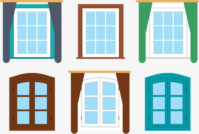 Vector House Windows Png And Vector House Windows House Vector Retro Furniture