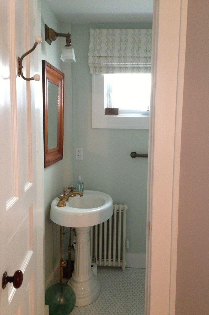 Farrow and Ball Pale Powder bathroom