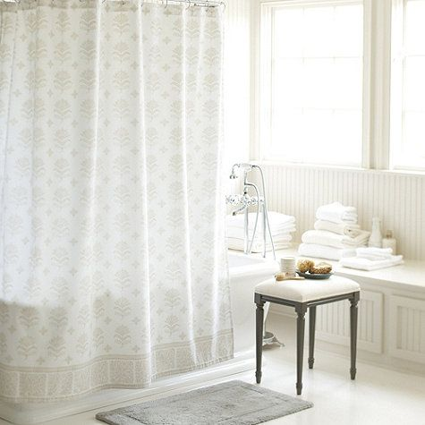Ava Block Print Shower Curtain