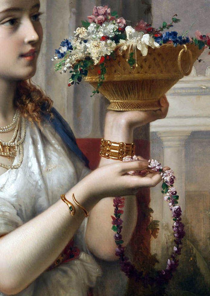 (Detail) Pierre Olivier Joseph Coomans 'Vestalis' 1871.