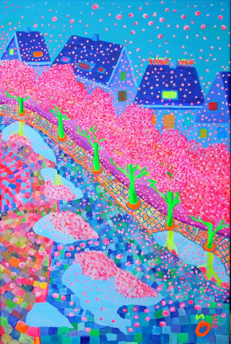 """Spring Street"". Size:23.6 - 15.7 Inch (60 - 40 cm)