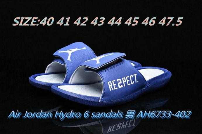 b4b722cb71955b 2018-2019 Summer Authentic Official mens Air Jordan Hydro 6 sandals slide  slipper blue Big