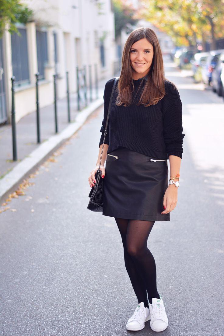 comment porter la jupe simili cuir. Black Bedroom Furniture Sets. Home Design Ideas