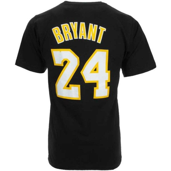 adidas Men's Los Angeles Lakers Kobe Bryant Player T-Shirt ($28) ❤ liked on Polyvore featuring men's fashion, men's clothing, men's shirts, men's t-shirts, black, adidas mens t shirts and mens t shirts