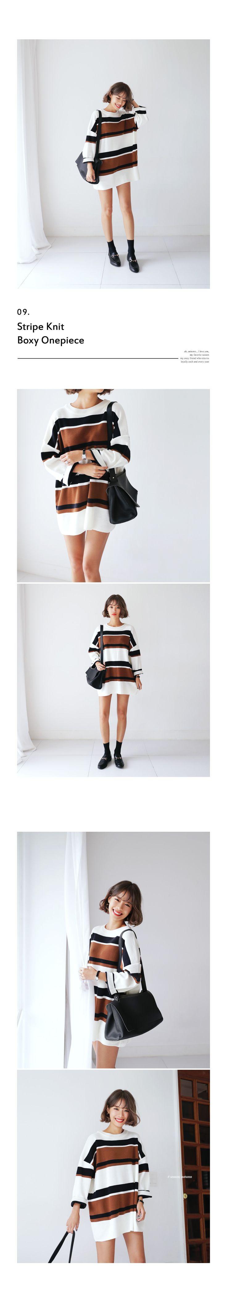 マルチカラーボーダーニットワンピース・全3色ドレス・ワンピドレス・ワンピ|レディースファッション通販 DHOLICディーホリック [ファストファッション 水着…