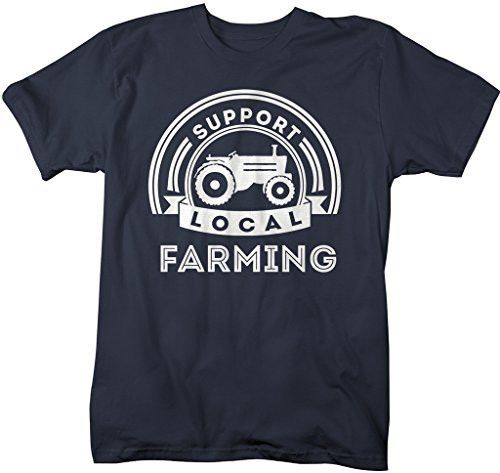 Shirts By Sarah Men's Support Local Farming T-Shirt Tractor Farm Shirts
