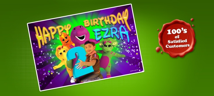 Barney and Friends Birthday Banner. International Orders - $85.00 USD (Design Only). Email info@chameleonmedia-solutions.com