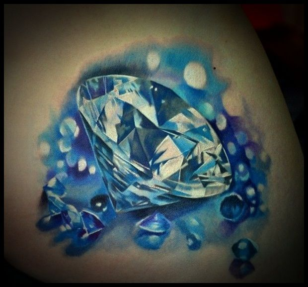 50 Best Diamond Tattoo Designs of 2013