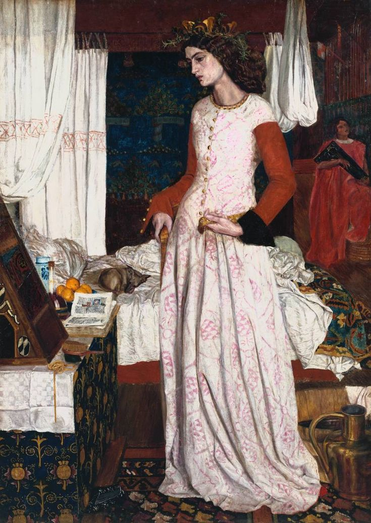 Cave to Canvas, William Morris, La Belle Iseult, 1858 From the...