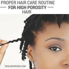 Proper Hair Care Routine for High Porosity Hair