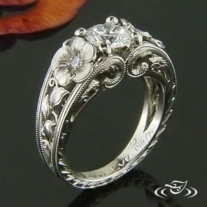 Custom pierced white gold ...pinned by ♥ wootandhammy.com, thoughtful jewelry.