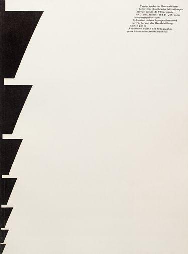 Typographische Monatsblätter Cover issue 7 – 1962 Design: André Gürtler & Bruno Pfäffli Typeface: Univers