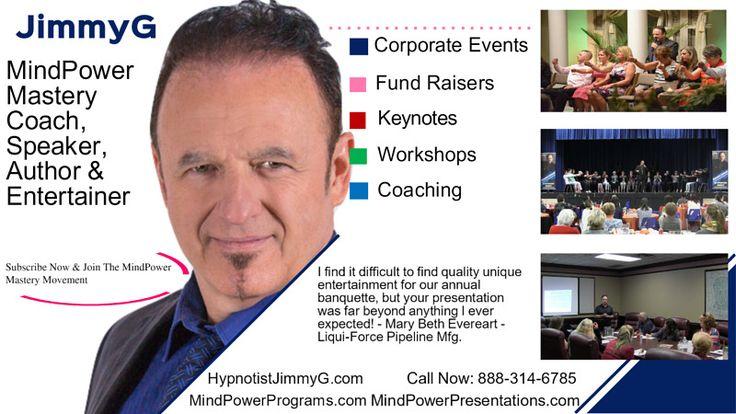 Hypnotist JimmyG YouTube Channel Art JimmyG - N. America's Best  Hypnotist Comedy Show  Contact JimmyG now at http://HypnotistJimmyG.com