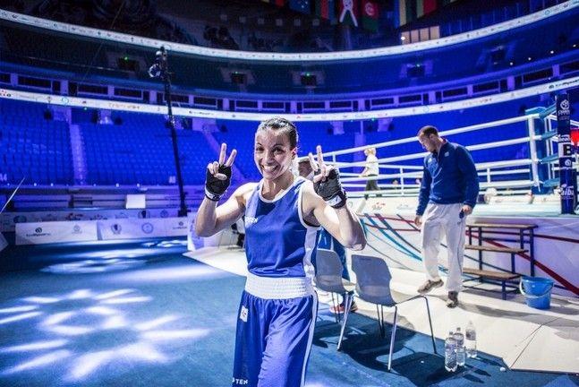 Sarah Ourahmoune, première boxeuse française de l'histoire aux JO
