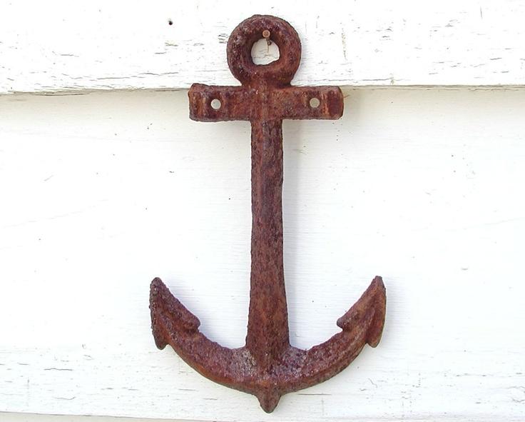 Nautical Theme Decor - Rusty Anchor For Your Beach House Ocean - Seaside. $13.50, via Etsy.