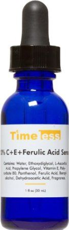 Timeless Vitamin C + E Ferulic Acid Serum. According to the FutureDerm blog, this is an excellent and affordable alternative to the famous Skincuticles serum. If you're not using a daily antioxidant serum, you're allowing free radicals to scavenge your healthy cells! Available on amazon.com for $25.00