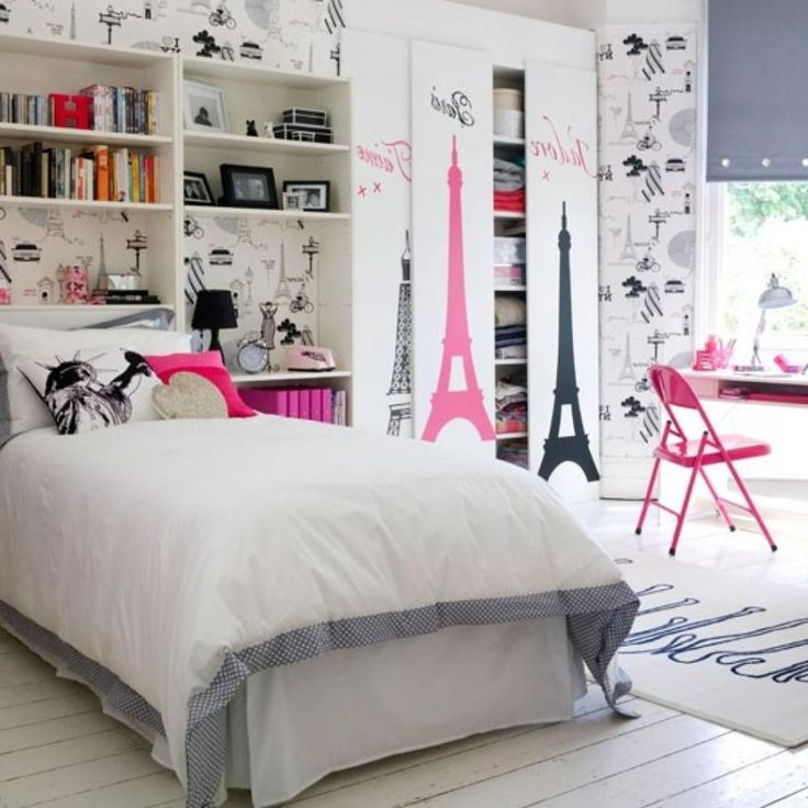 Perfect Teenage Bedroom Ideas with White Painting