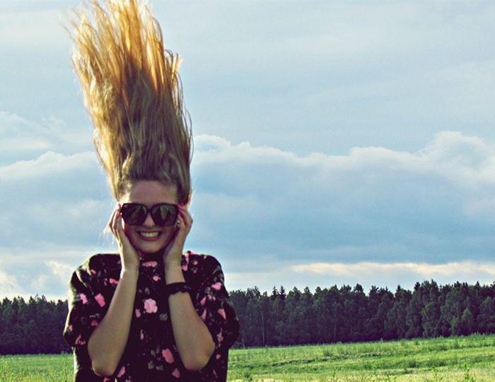 smile! long hair