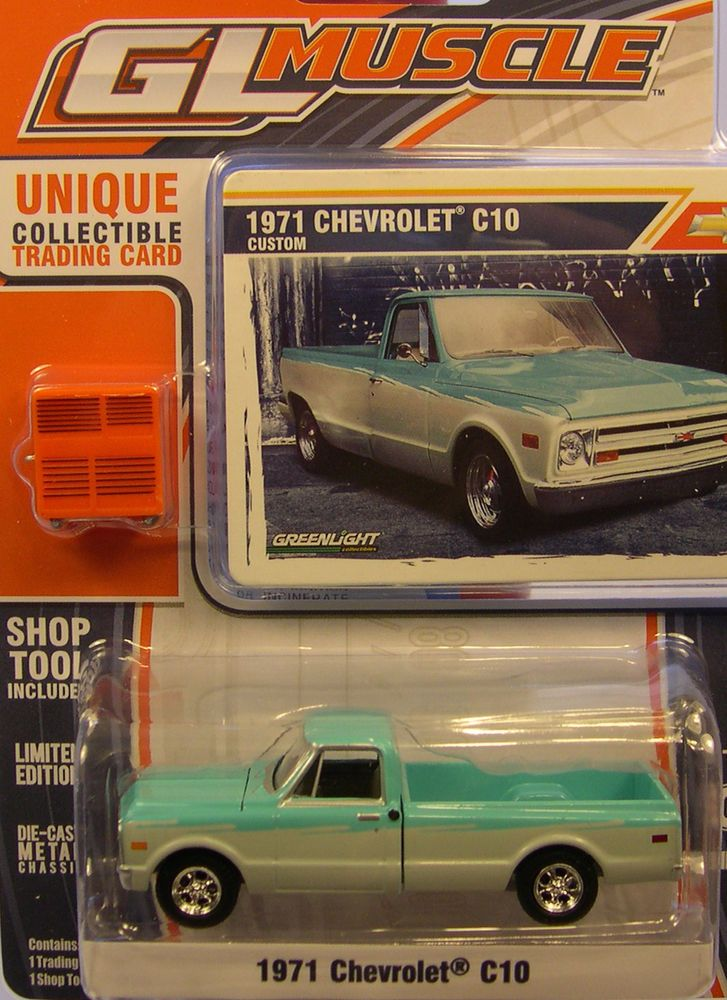 GREENLIGHT 1:64 SCALE DIECAST METAL GREEN & WHITE 1971 ...