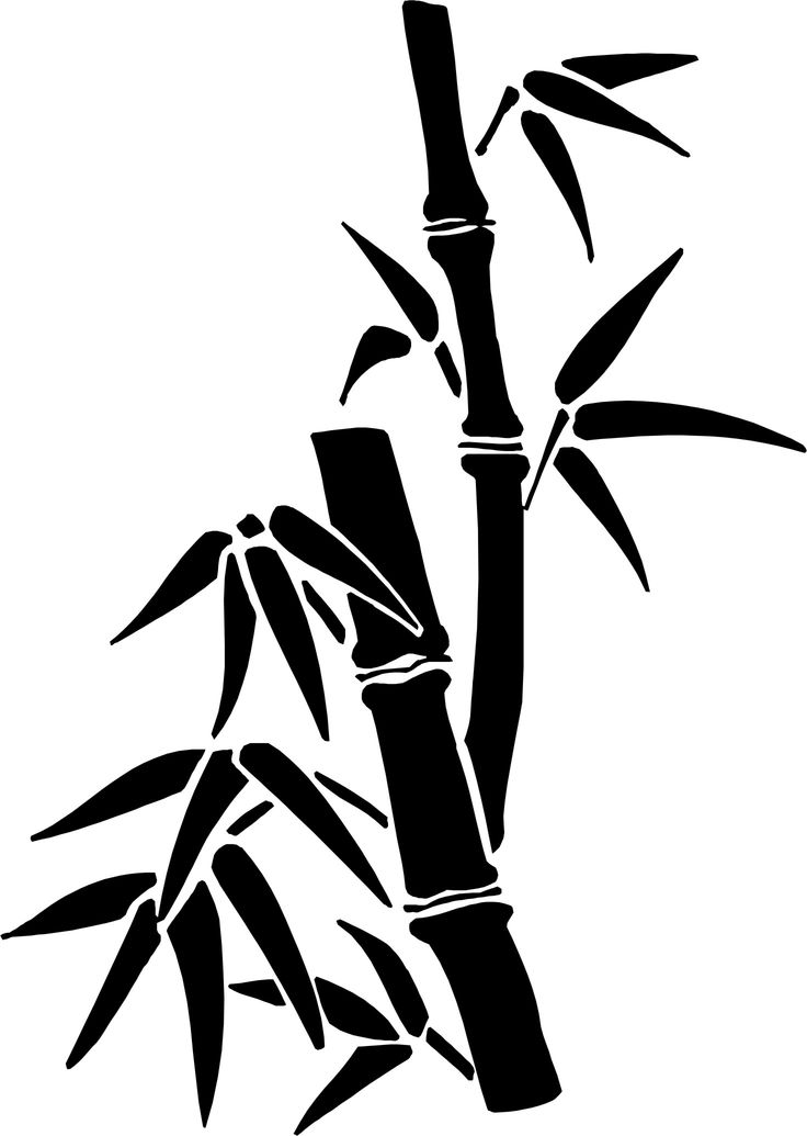 bamboo chinese drawing drawings painting easy simple brush oriental stencil draw tree dibujo ink paintings para flores paredes japanese silhouette