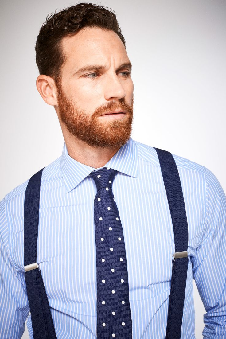 Tailored fit dress shirt with stripes, an easy iron finish and classic collar.   Shirts   Cortefiel Man & Woman