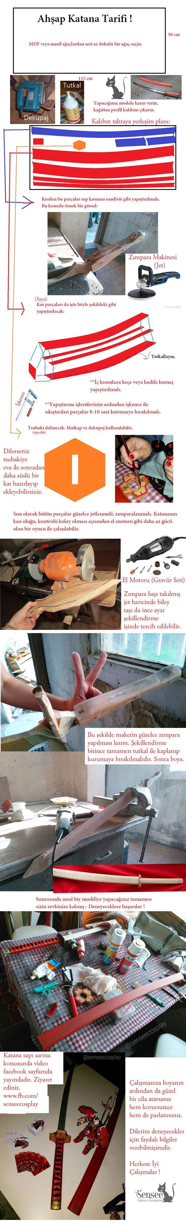 Türkçe Katana Yapılışı Yöntemleri ve malzemeleri. Ahşap katana nasıl yapılır? #senseecosplay