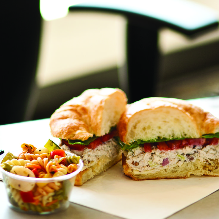 on Croissant || Newk's signature Chicken Salad, homemade with grapes ...