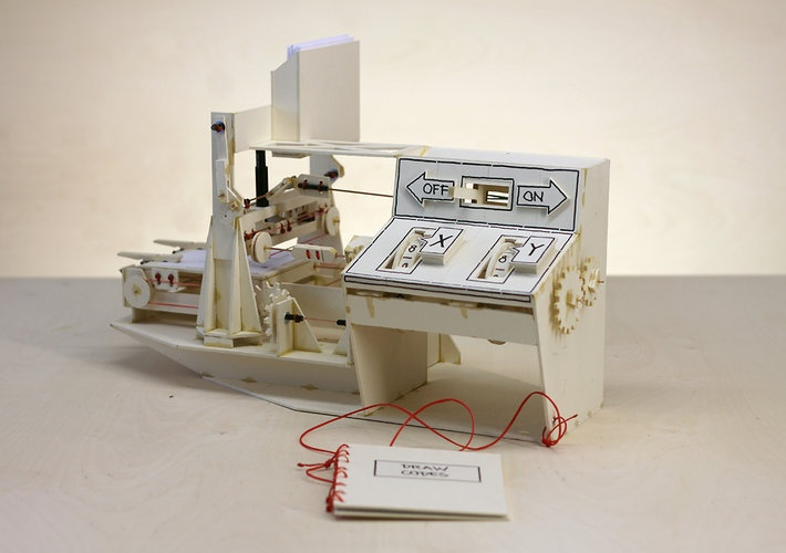 Building A Working Plotter Made Out Of Cardboard And Glue | Co.Design: business + innovation + design