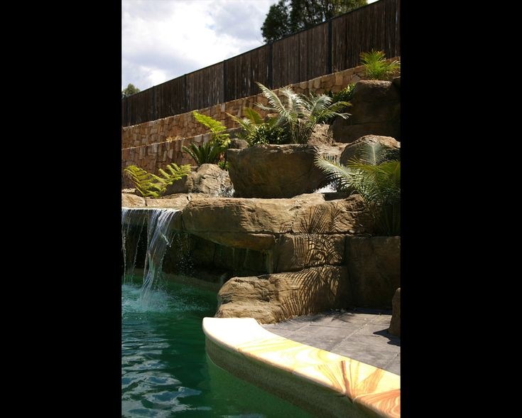 We Build A Natural Looking Swimming Pool Rock Water