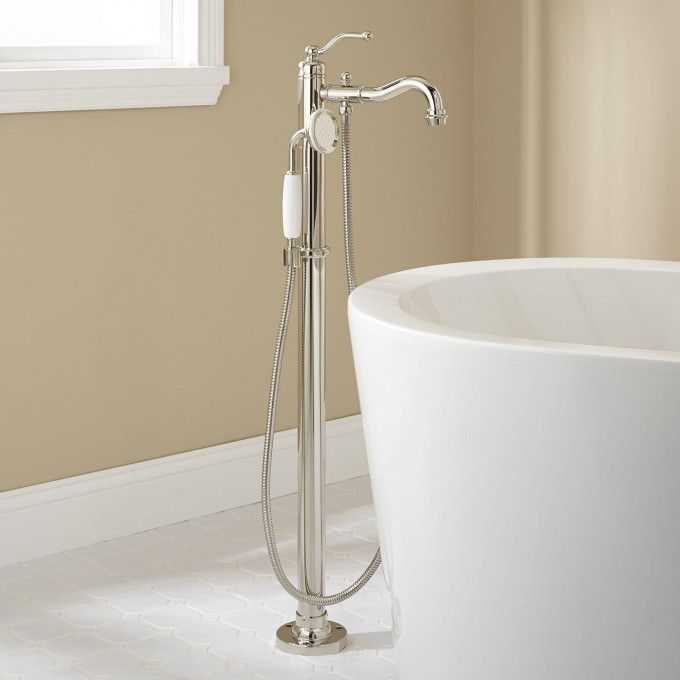 700 Polished Nickel Leta Freestanding Tub Faucet With Hand