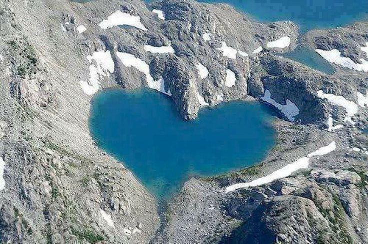 image of heart lake