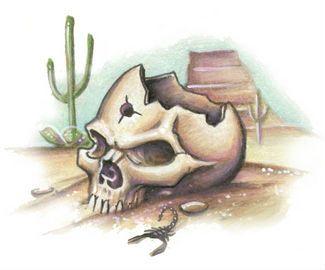 Skull Tattoo Design Stencil Art