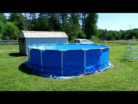 Setting Up Our Inexpensive Intex Swimming Pool.   YouTube Amazing Pictures