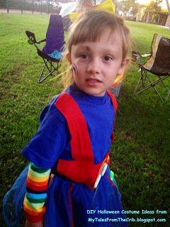 MyTalesFromTheCrib: DIY Mama! No-Sew, Homemade Halloween Costumes Featuring Rainbow Brite!