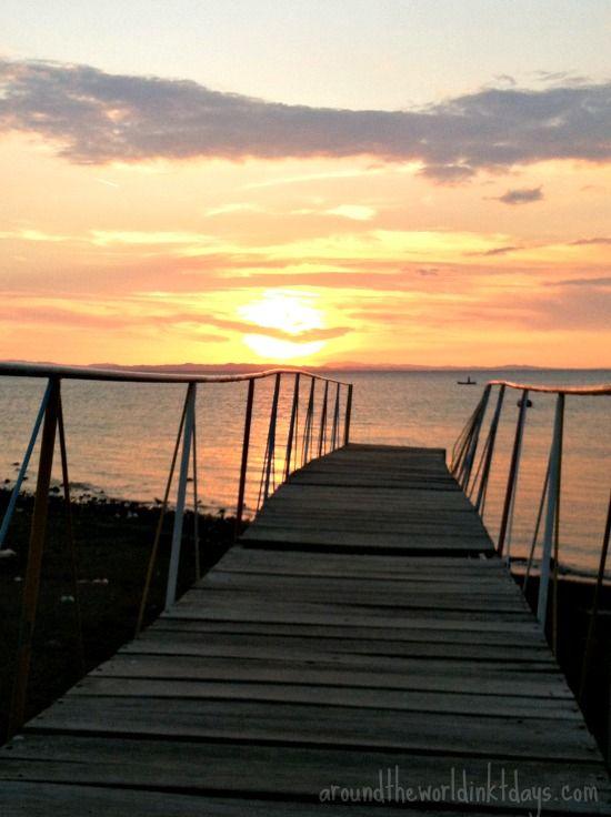 A sunset in Moyogalpa, Ometepe Island, Nicaragua